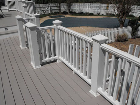 Composite deck-multi level