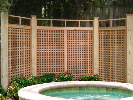 Privacy Screen around hot tub
