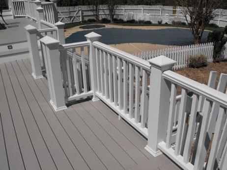 Composite deck-multi level