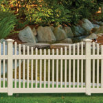 Chestnut Scallop Activeyards Vinyl Fence