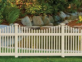 Chestnut Scallop Activeyards Vinyl Fence