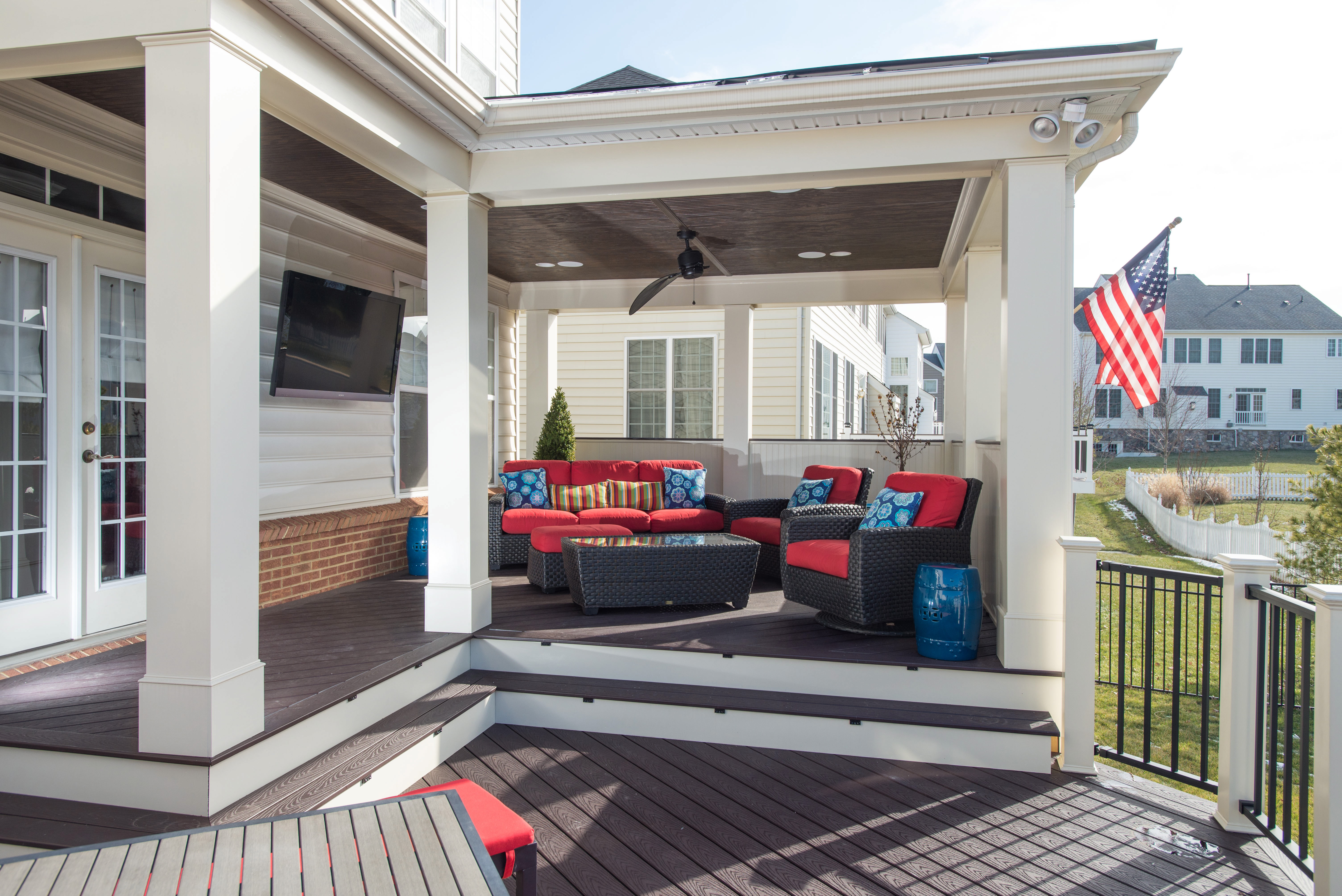 Trex Deck And Porch Constructed In Brambleton Va