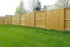7' High Board and Batten with 6x6 posts and ball finials